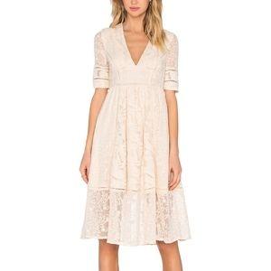 Free People Laurel Embroidered Midi Dress